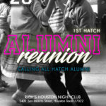 CALLING ALL HATCH ALUMNI FOR OUR 1ST REUNION