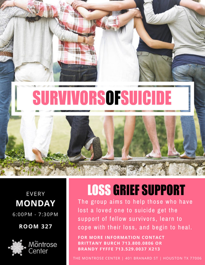 survivors of suicide support group TMC aw