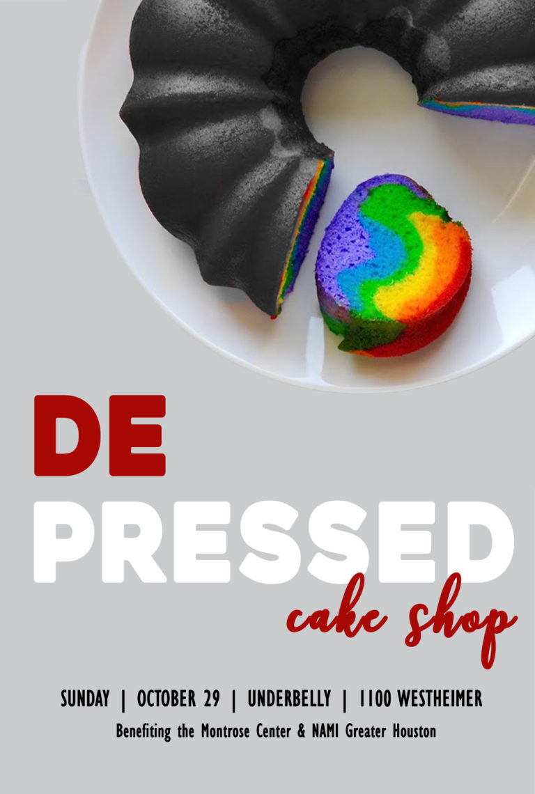 Depressed Cake Shop Flyer 4X6