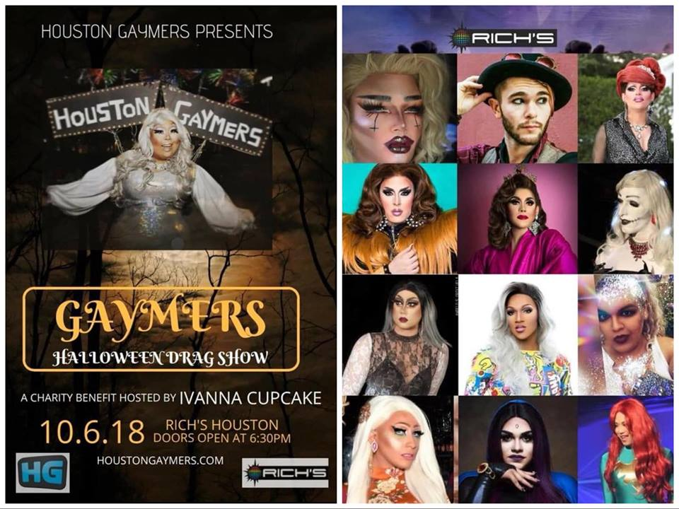 join houston gaymers as they present their halloween dragshow premiering a dozen of the cities hottest queens new and seasoned digging into the sinister